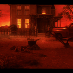 Alice Doesn't Live Here Anymore (1974) | Martin Scorsese production design | Martin Scorsese Films | Old farmhouse with red sky and red lighting