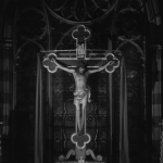 Who's That Knocking At My Door (1967) | Martin Scorsese production design | Martin Scorsese Films | Crucifix close-up at front of church on altar