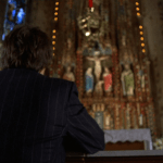 Mean Streets (1973) | Martin Scorsese production design | Martin Scorsese Films | Harvey Keitel prays at front of the altar at church