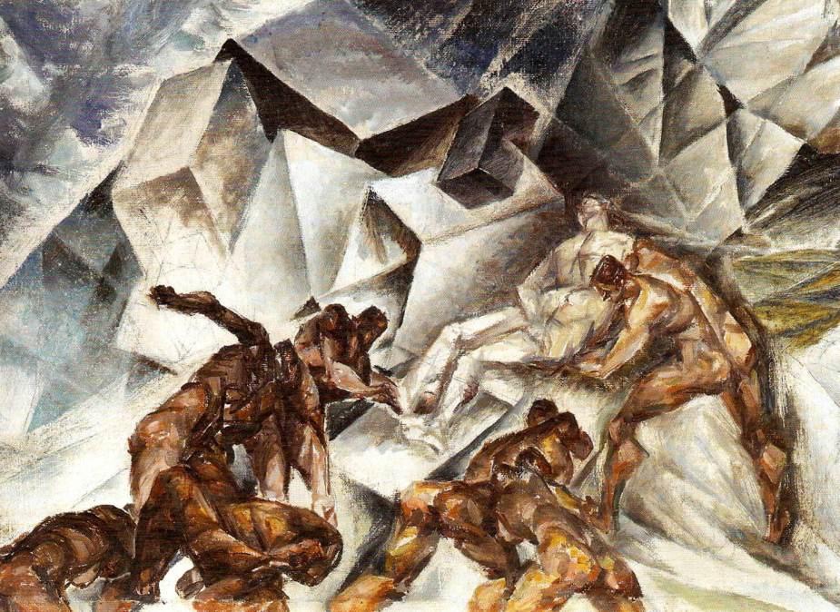 Untitled (Deposition)|c. 1926-1928 |oil on canvas |41.2 x 55.6 cm by Kathleen Munn