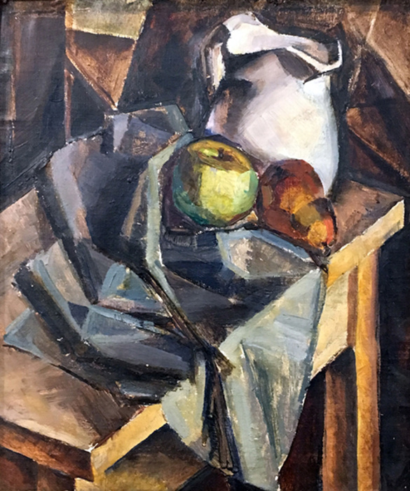 Still Life with Pear, Apple and Jug by Kathleen Munn