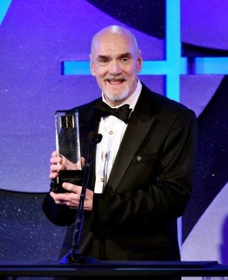 Production Designer, Jim Bissell accepts his Lifetime Achievement Award from The Art Directors Guild