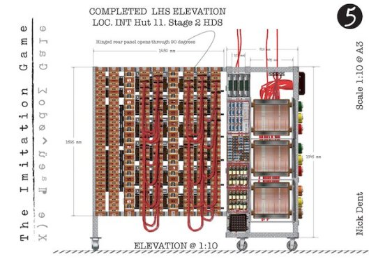 The Imitation Game (2014) | Turing Bombe Machine Technical Drawings
