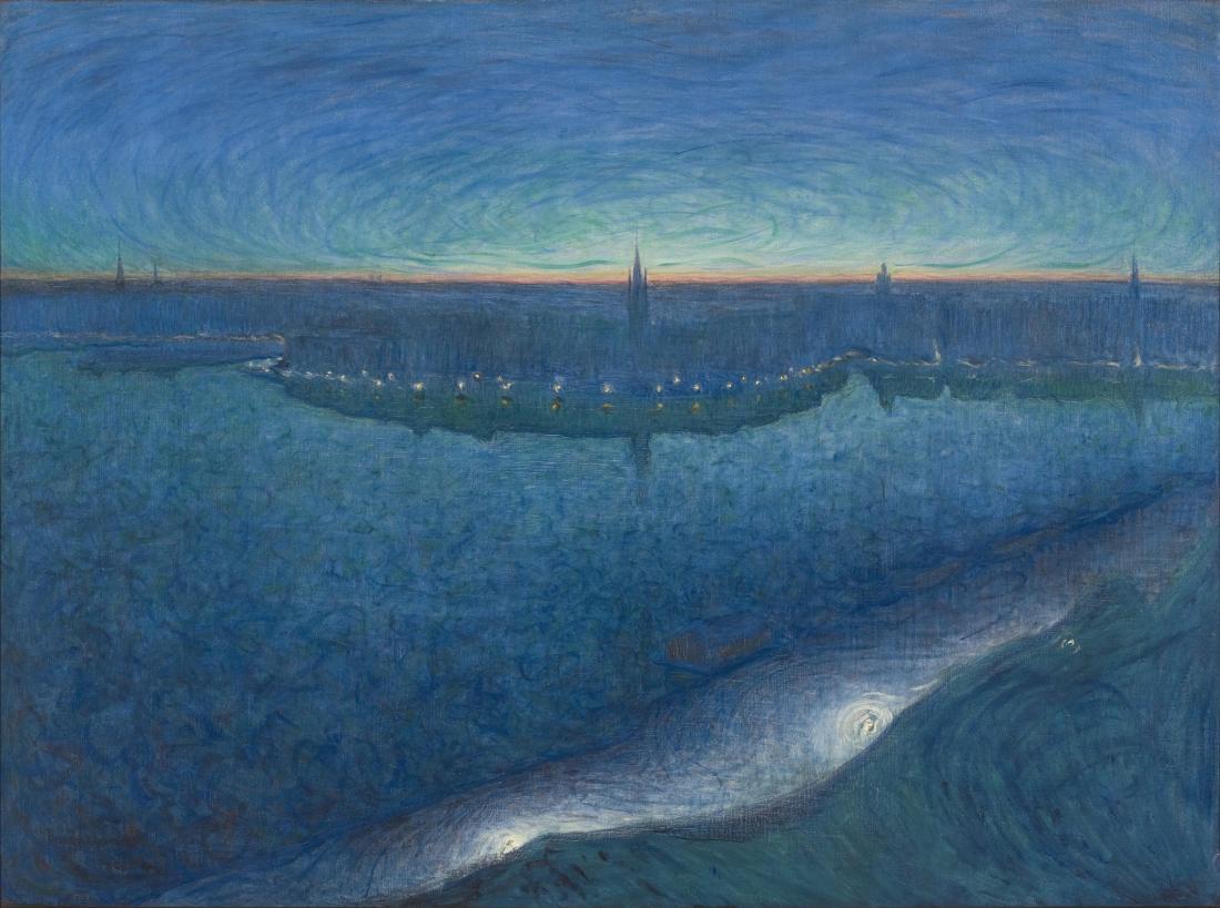 Mystical Landscapes AGO Exhibit / Eugene Jansson- Dawn Over Riddarfjarden