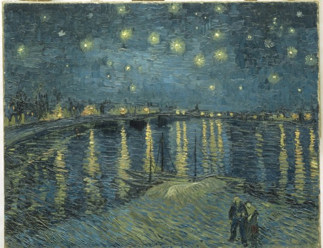 Vincent van Gogh's The Starry Night over the Rhone at Arles, 1888