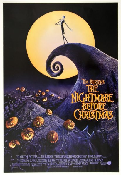 Tim Burton's The Nightmare Before Christmas / movie poster design / movie poster artist