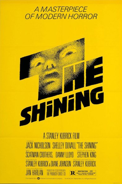 The Shining Movie Poster by Saul Bass / Yellow / movie poster design / movie poster artist