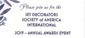 Set Decorators Society of America International SDSA Awards Event 2019 @ Sheraton Universal Hotel | Universal City | California | United States