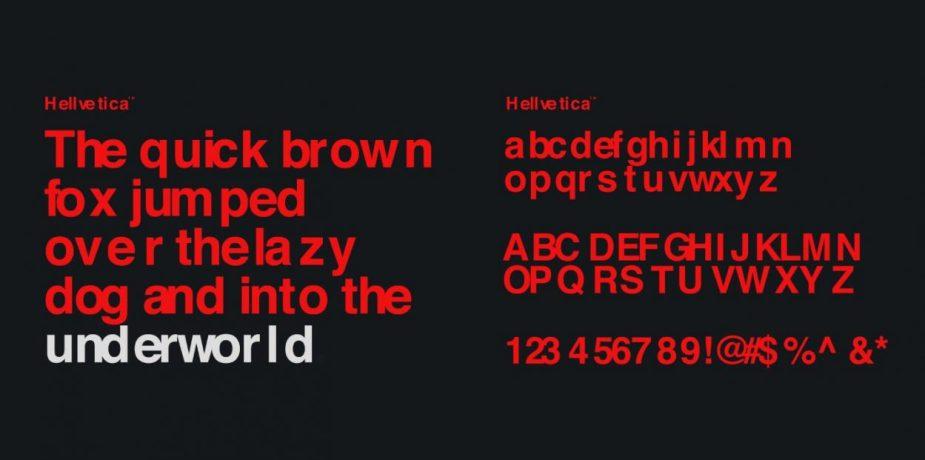 Hellvetica Typeface | Hellvetica Font