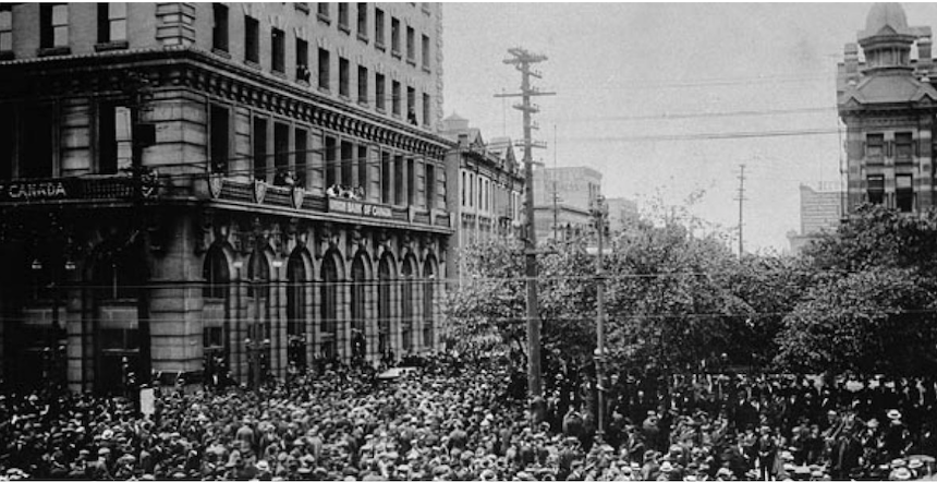 Winnipeg General Strike Archival Shot