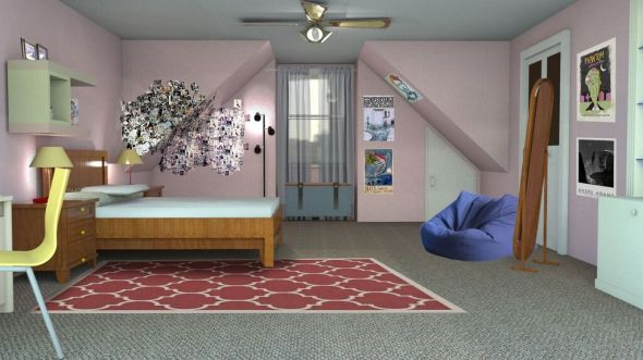 Sketchup Model- Ma's Room