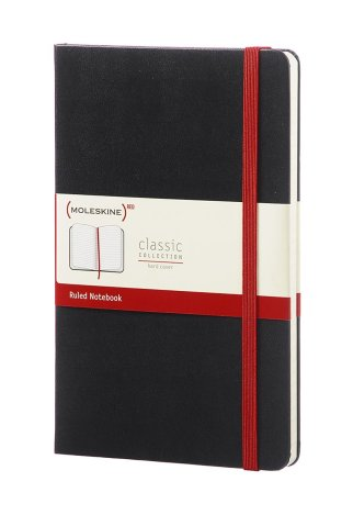 Moleskine (Red) Classic Notebook Large Ruled Hard Cover. Purchase: http://amzn.to/2yJEvcc