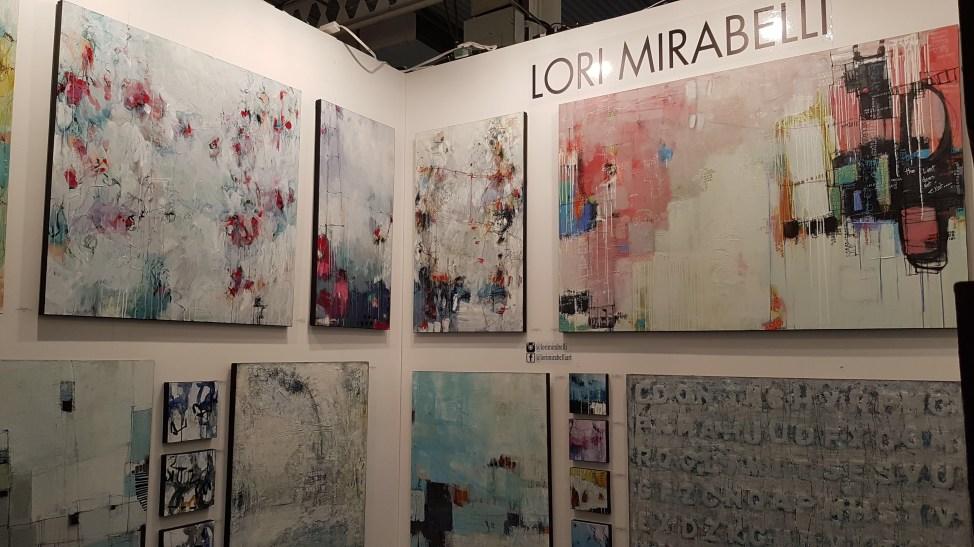 Artist Lori Mirabelli at The Artist Project 2019