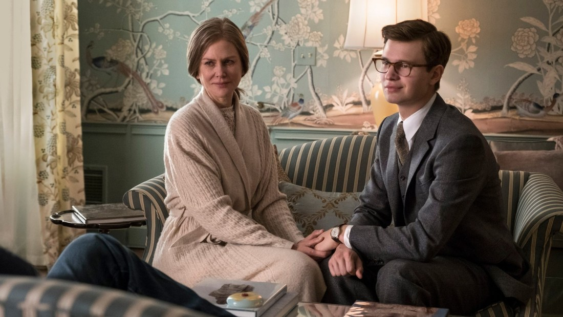TIFF 2019 Lineup | The Goldfinch living room wallpaper with Nicole Kidman on couch with boy