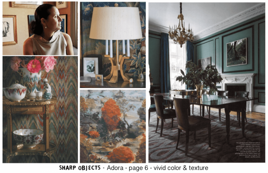 Sharp Objects | Crellin House Moodboard | HBO