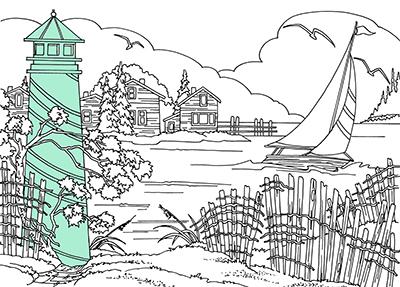 lighthouse pattern by Lora Irish