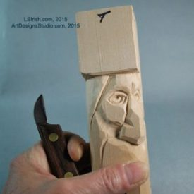 free wood carving project by Lora Irisih