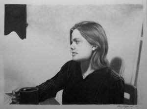 Pencil Portrail of Amy Stamiris