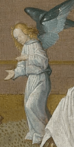 Memorial tablet, Master of the Spes Nostra, c. 1500. Detail