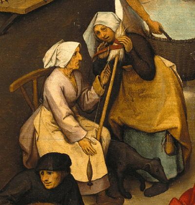 Pieter Bruegel the Elder, Netherlandish Proverbs, 1559. Detail