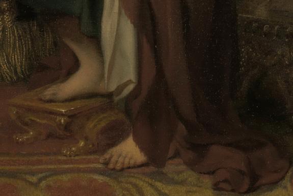 Gerard de Lairesse, Cleopatra's Banquet, c. 1675 - c. 1680. Detail