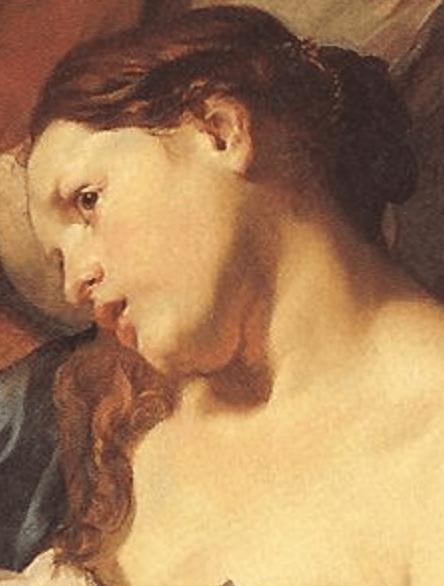 1622-24, Johann Liss, The Death of Cleopatra, Alte Pinakothek, Munich. Detail