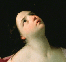1628, Guido Reni, Cleopatra with the Asp, Royal Collection, Windsor. Detail