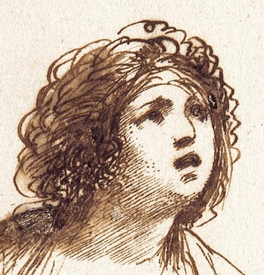 1640, Guercino (Giovanni Francesco Barbieri), Cleopatra and Octavian, Museum Kunstpalast Düsseldorf. Detail