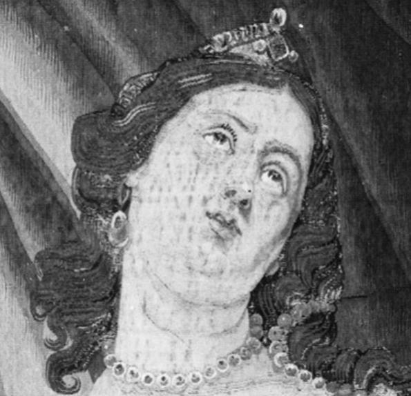 1650-77, Justus van Egmont, Death of Cleopatra, Metropolitan Museum of Art. Detail