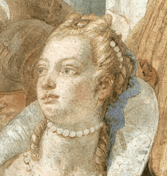 1746-47, Giovanni Battista Tiepolo, The Banquet of Cleopatra, Palazzo Labia, Venice, Italy. Detail