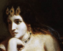 1838, Eugène Delacroix, Cleopatra and the Peasant, Ackland Art Museum, Chapel Hill. Detail