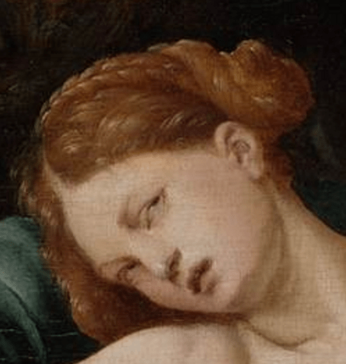 c.1523, Jan van Scorel, Death of Cleopatra, Rijksmuseum, Amsterdam. Detail