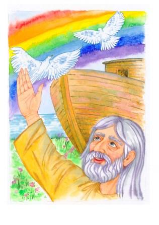 Ilustrácie - Biblické príbehy, akvarel