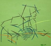 Bonzo, 25x30 cm, acryl, canvas