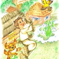 Illustrations for Kristina Rojova's book, watercolor