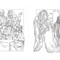 Illustrations for the book Still living stories, pencil drawing