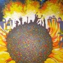 Majdan - Kiev, 70x50 cm, acryl, canvas, 2014