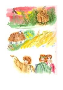 Ilustrácie ku knihe - Najkrajšie ruské rozprávky, akvarel