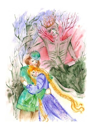 Illustration for the book- Russian fairytales, watercolor