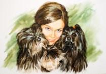 Portrait-dog-akvaqrel