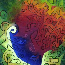 Recital, 45x34 cm, oil, canvas, cardboard, 2004