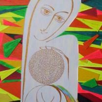 Light of the World, 80x40 cm, acryl, wood
