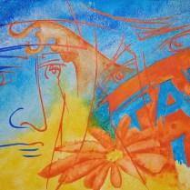 Dance with Wolves, 50x70 cm, acryl, canvas. 2004