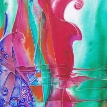 Violoncelio, 70x50 cm, acryl, canvas, cardboard, 2010