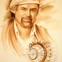 Portrait,45x30 cm, watercolor, pencil