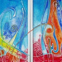 Duo of paintings, 36x60 cm, acryl, canvas