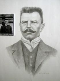 Portrait, 50x70cm, pencil