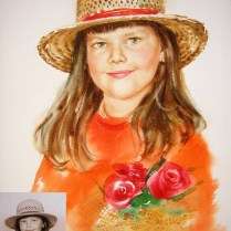 Portrait, 50x30 cm, watercolor
