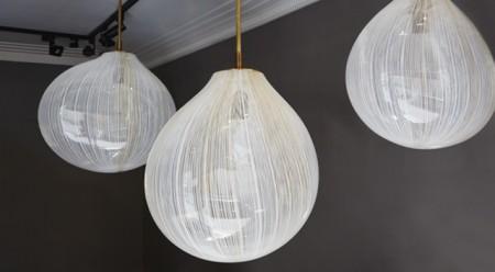 Filigree glass hanging lights