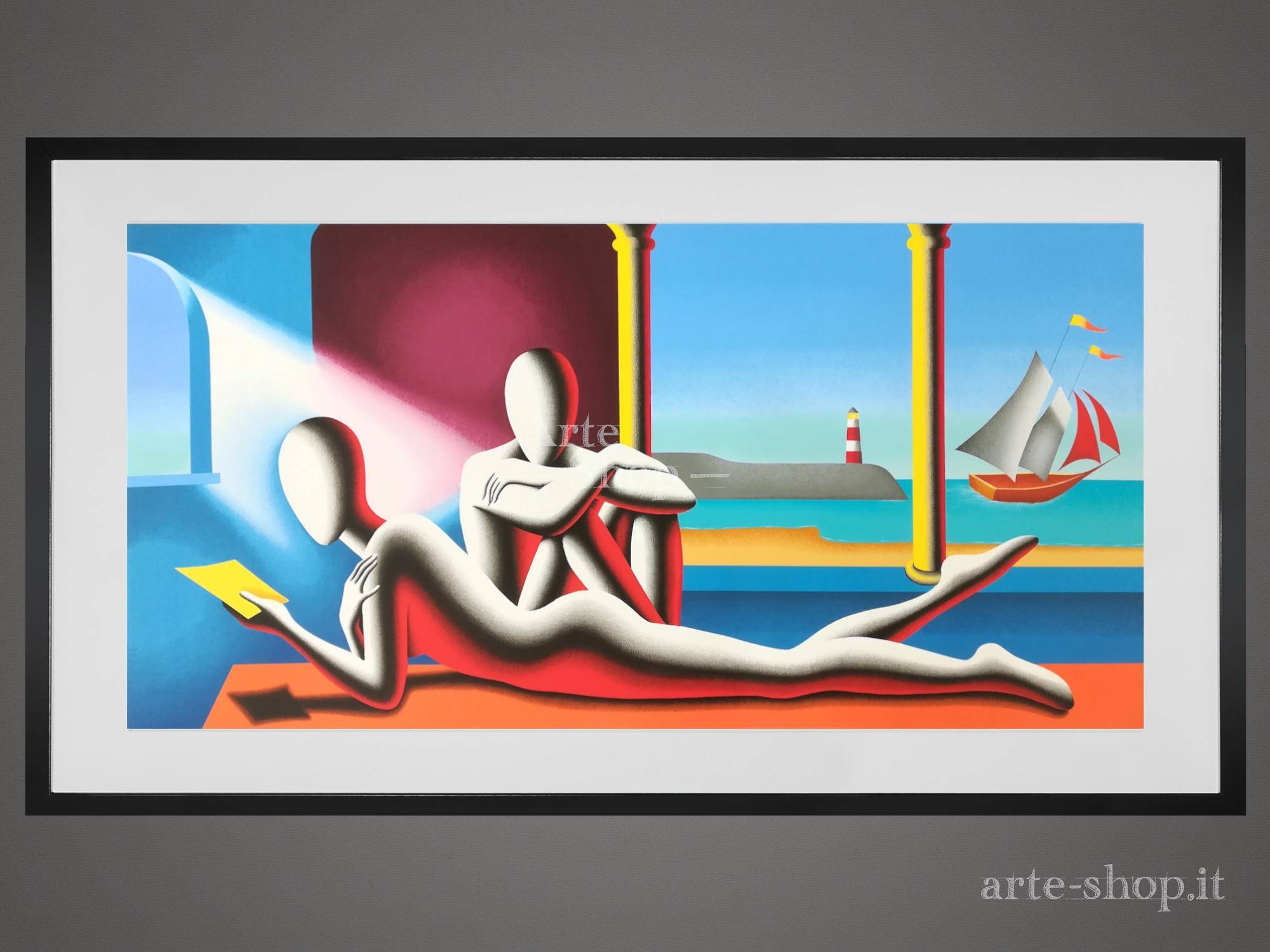 Serigrafia Mark Kostabi - One moment in time